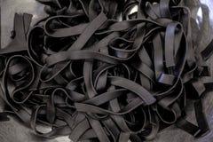Pasta nera Fotografia Stock Libera da Diritti