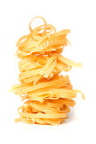Pasta nest isolated on white Royalty Free Stock Images