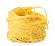 Pasta nests closeup on a white. Isolated. Pasta nests closeup on a white background. Isolated stock photos