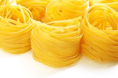 Pasta nests Stock Images
