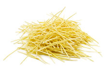 Pasta noodles on white Stock Photo