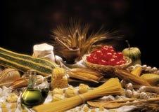 Pasta och olja Royaltyfri Fotografi