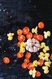 Pasta och tomater Royaltyfria Foton