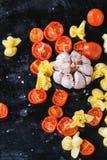 Pasta och tomater Royaltyfri Fotografi