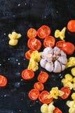 Pasta och tomater Royaltyfri Bild