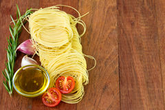 Pasta with oil Royalty Free Stock Photography