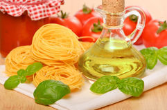 Pasta With Olive Oil Royalty Free Stock Photo