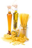 Pasta and olive oil Stock Photo