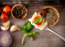 Pasta with olive oil Stock Photos