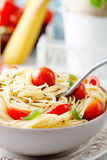 Pasta with olive oil Royalty Free Stock Photography