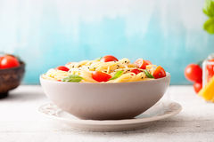 Pasta with olive oil Stock Images