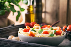 Pasta with olive oil Royalty Free Stock Photos