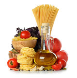 Pasta and olive oil Royalty Free Stock Image