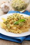 Pasta with olive tapenade Stock Images