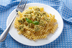 Pasta with olive tapenade Royalty Free Stock Image