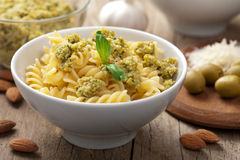 Pasta with olive tapenade Royalty Free Stock Photography