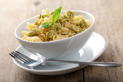 Pasta with olive tapenade Royalty Free Stock Images