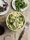 Pasta with Olives Stock Photography