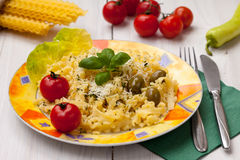 Pasta with olives Royalty Free Stock Photos