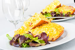 Pasta omelette Stock Images