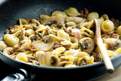 Pasta orecchiette Stock Photography
