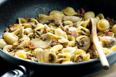 Pasta Orecchiette Stock Photography