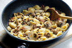 Pasta orecchiette Royalty Free Stock Images