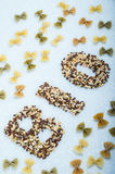 Pasta Organic cereals and legumes Royalty Free Stock Photos