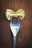 Pasta på gaffel Royaltyfri Bild