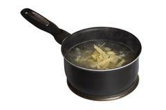 Pasta in pan Stock Image