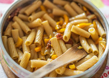 Pasta in a pan Royalty Free Stock Photos