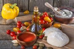 Pasta para las pastas italianas Imagen de archivo