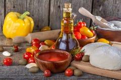 Pasta para las pastas italianas Fotografía de archivo libre de regalías