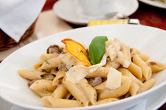 Pasta with parmesan Royalty Free Stock Photo