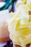 Pasta and parmesan Stock Photos