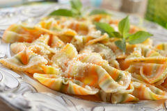 Pasta with parmesan cheese Royalty Free Stock Image