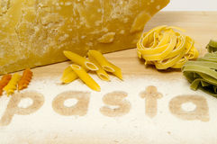 Pasta and Parmisan Stock Photography