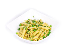 Pasta with parsley Royalty Free Stock Image