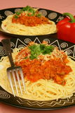 Pasta party royalty free stock photography