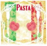 Pasta pattern - Vintage style Royalty Free Stock Photo