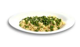 Pasta with Peas Stock Photos