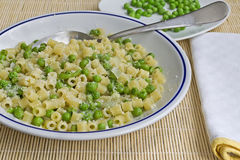 Pasta with peas Royalty Free Stock Images