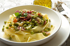Pasta with peas Stock Image