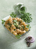 Pasta with peas Royalty Free Stock Image