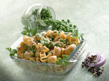 Pasta with peas Royalty Free Stock Photos