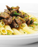 Pasta Penne with Beef Stock Image
