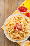 Pasta Penne In Plate Royalty Free Stock Photography