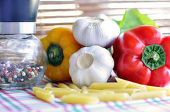 Pasta Penne Ingredients  Royalty Free Stock Photo