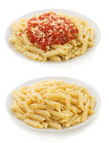 Pasta Penne in plate Stock Images