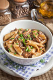 Pasta penne with pork sauce. Royalty Free Stock Photography